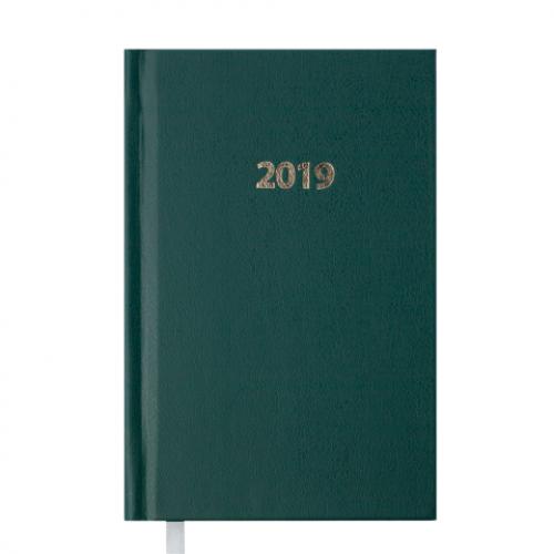 Ежедневник датированный 2019 STRONG, A6, 336 стр., зеленый