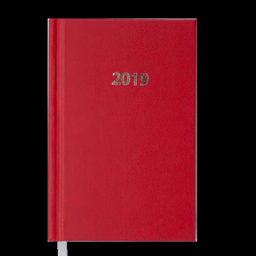 Ежедневник датированный 2019 STRONG, A6, 336 стр., красный