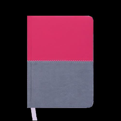 Ежедневник датированный 2019 QUATTRO, A6, 336 стр. розовый + серый