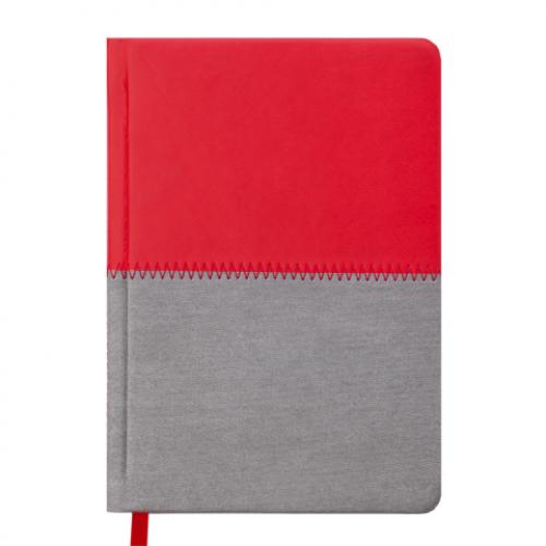 Ежедневник датированный 2019 QUATTRO, A6, 336 стр. красный + серый