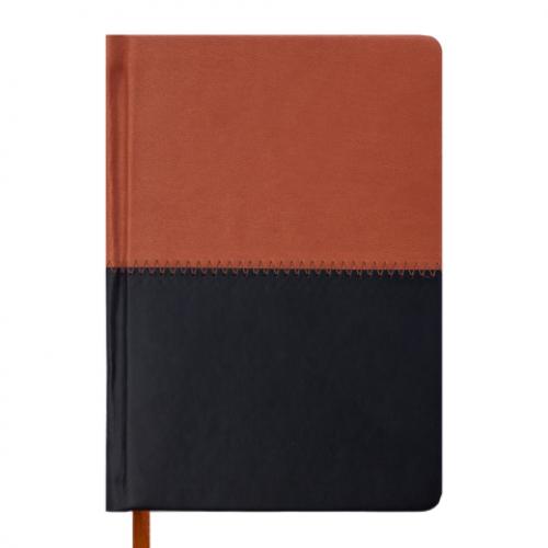 Ежедневник датированный 2019 QUATTRO, A6, 336 стр. коричневый + чорный
