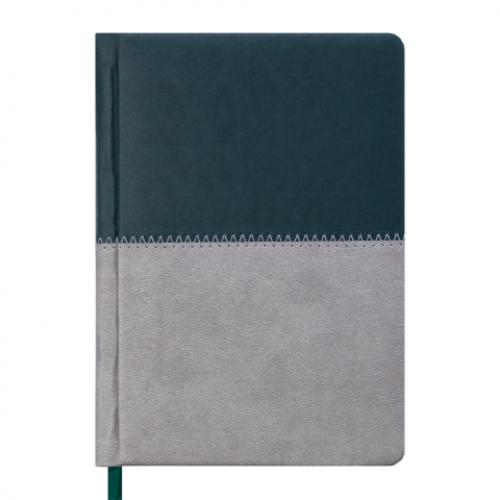 Ежедневник датированный 2019 QUATTRO, A6, 336 стр. темно-зеленый + серый