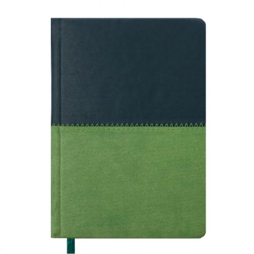 Ежедневник датированный 2019 QUATTRO, A6, 336 стр. темно-зеленый + светло-зеленый