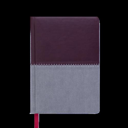 Ежедневник датированный 2019 QUATTRO, A6, 336 стр. бордовый + серый