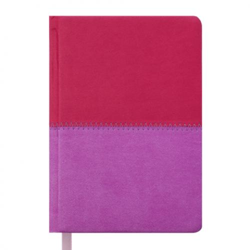 Ежедневник датированный 2019 QUATTRO, A6, 336 стр. розовый + сиреневый