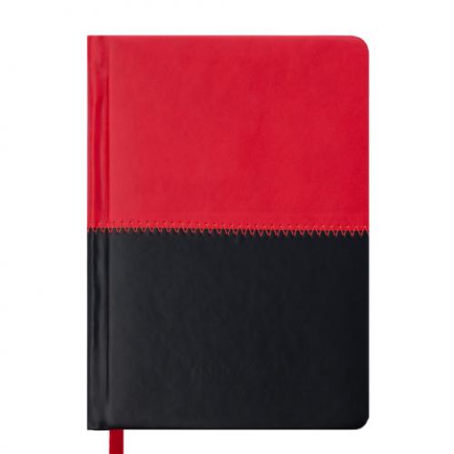 Ежедневник датированный 2019 QUATTRO, A6, 336 стр. красный + черный