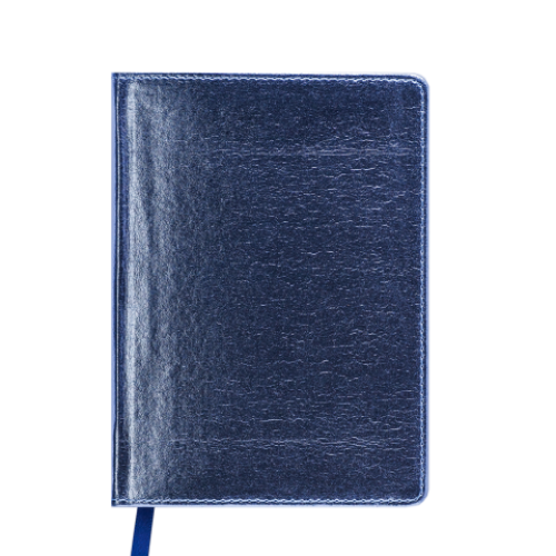 Ежедневник датированный 2019 METALLIC, A6, синий