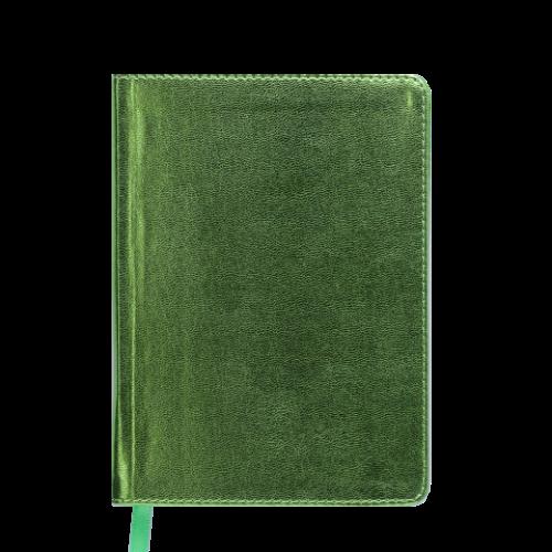 Ежедневник датированный 2019 METALLIC, A6, салатовый