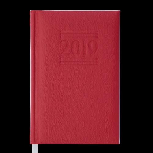 Ежедневник датированный 2019 BELCANTO, A6, 336 стр., красный