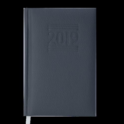 Ежедневник датированный 2019 BELCANTO, A6, 336 стр., серый