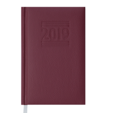 Ежедневник датированный 2019 BELCANTO, A6, 336 стр., бордовый