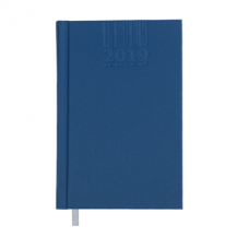 Ежедневник датированный 2019 BRILLIANT, A6, 336 стр., синий