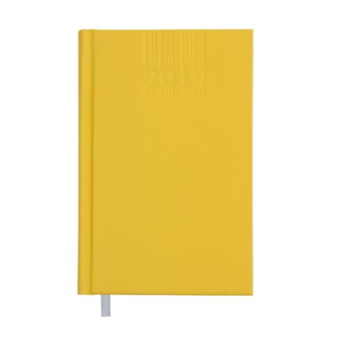Ежедневник датированный 2019 BRILLIANT, A6, 336 стр., желтый
