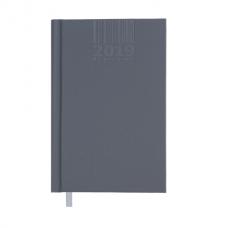 Ежедневник датированный 2019 BRILLIANT, A6, 336 стр., серый