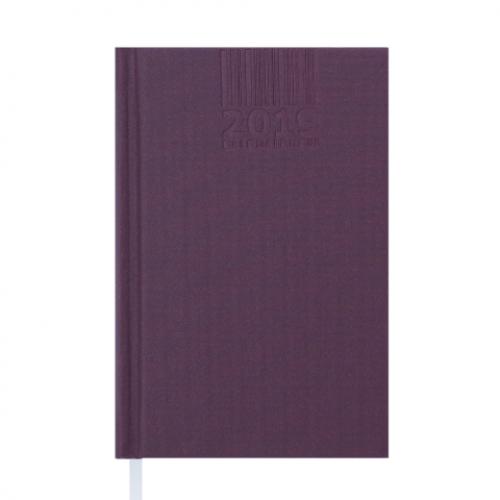 Ежедневник датированный 2019 BRILLIANT, A6, 336 стр., бордовый