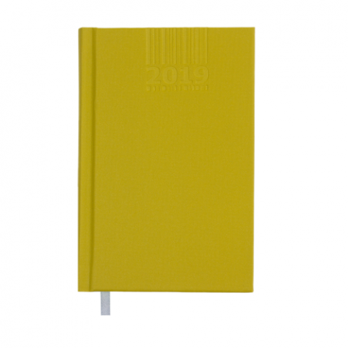 Ежедневник датированный 2019 BRILLIANT, A6, 336 стр., оливковый