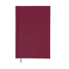 Ежедневник датированный 2019 BRILLIANT, A6, 336 стр., вишневый