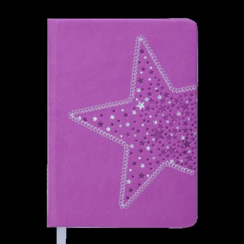 Ежедневник датированный 2019 STELLA, A6, 336 стр., фиолетовый