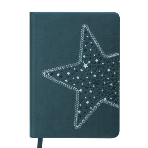 Ежедневник датированный 2019 STELLA, A6, 336 стр., т.-бирюзовый