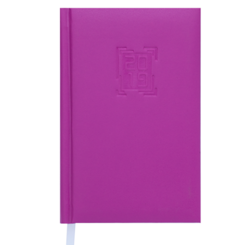 Ежедневник датированный 2019 MEMPHIS, A6, 336 стр., малиновый