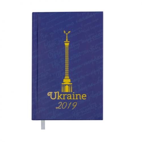 Ежедневник датированный 2019 UKRAINE, A6, 336 стр., синий