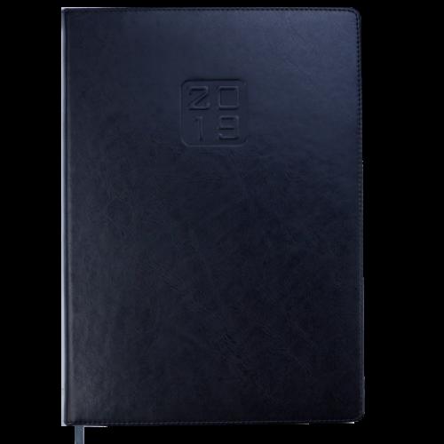 Ежедневник датированный 2019 BRAVO (Soft), A4, черный