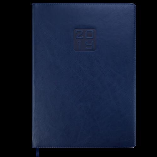 Ежедневник датированный 2019 BRAVO (Soft), A4, синий