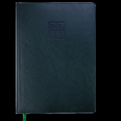 Ежедневник датированный 2019 BRAVO (Soft), A4, зеленый