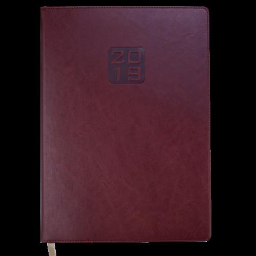 Ежедневник датированный 2019 BRAVO (Soft), A4, коричневый