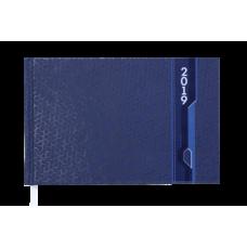 Еженедельник карманный датированный 2019 VELVET, 136 стр., синий