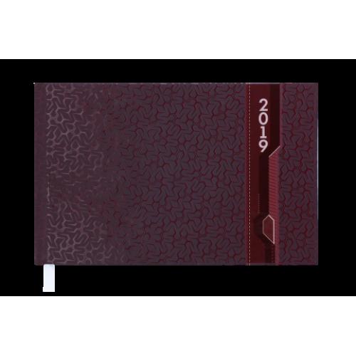 Еженедельник карманный датированный 2019 VELVET, 136 стр., бордовый