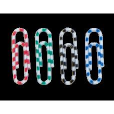 Скрепки цветные ЗЕБРА, 28мм, 100шт.
