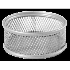 Подставка для скрепок BUROMAX, металлическая, серебро