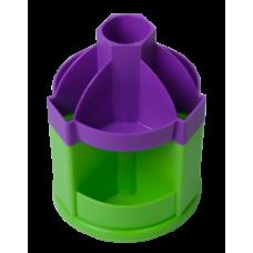 Подставка канцелярская вращающаяся FRESH, фиолетово-салатовая