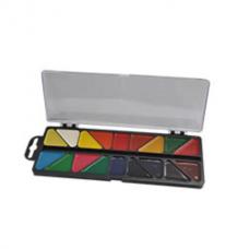 Акварельные краски 18 цветов, пластик. черный футляр