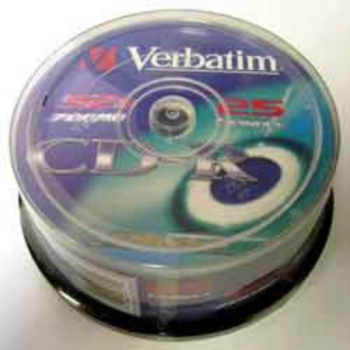 Диск CD-R,700Mb, 52х,80min, Cake (25), Extra