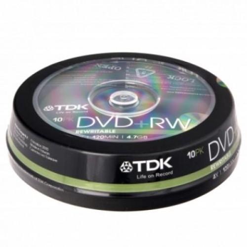 Диск DVD-RW, 4.7Gb, 2x-4х, Cake (10)