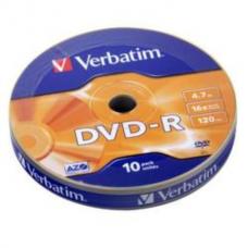 Диск DVD-R, 4.7Gb,16х, Matt Silver, Case (10)