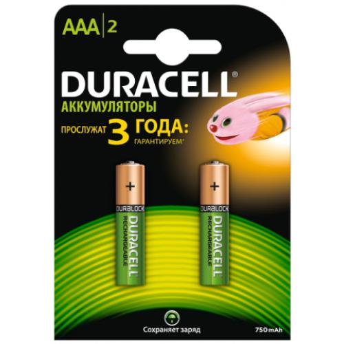 """Аккумулятор AAA """"Duracell"""" 750 mAh (по 2шт.)"""