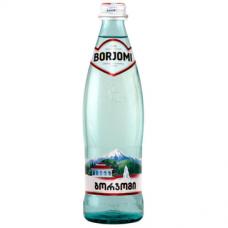 """Вода минеральная газированная, 0,5л, """"Боржоми"""", стекло"""