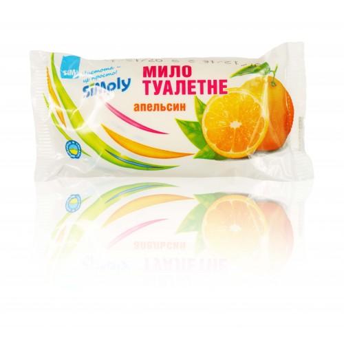 """Мыло туалетное твердое ТМ """"Simply"""" Апельсин, марка К (классическое) 65 г"""