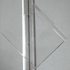 Акриловая полка для вертикального крепления наискось для Leaflet Display A4