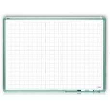Доска в клетку для письма маркером в алюминиевой рамке ALU23 120x90