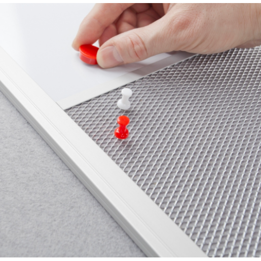 Доска комбинированная маркер (серый цвет поверхности) / пробка в UKF 150x100