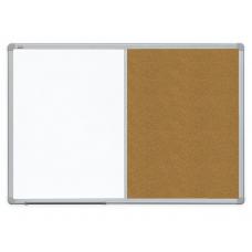 Доска комбинированные маркер / текстиль ALU23 120x90